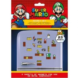Super Mario hűtőmágnes (23 db)